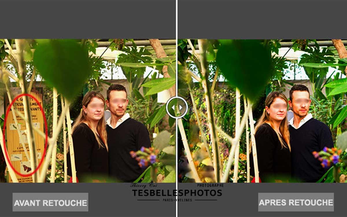 Retouche portrait photo de couple, photographe de portrait