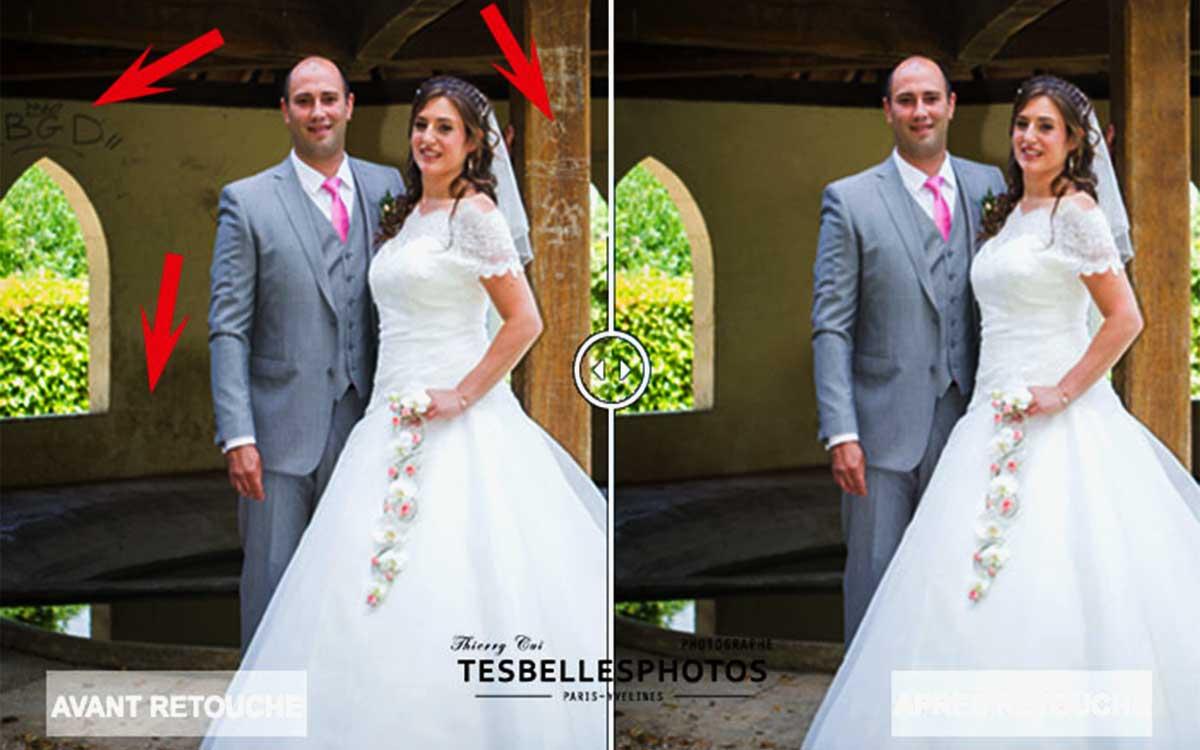Retouche photo couple de mariage, photographe de couple